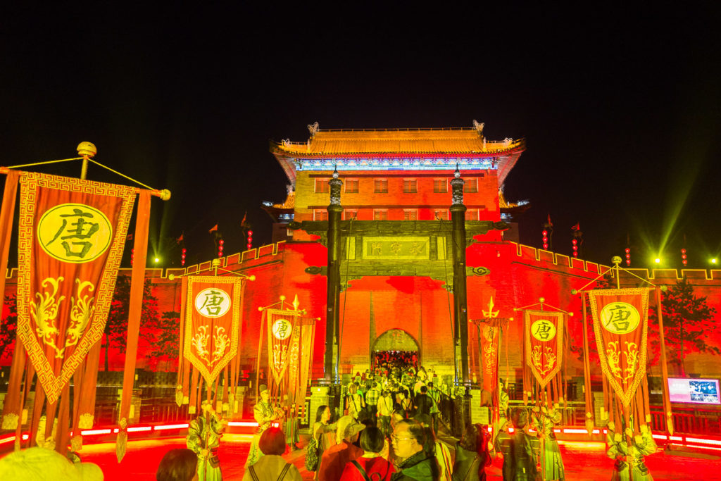 Abendshow in Xi'an