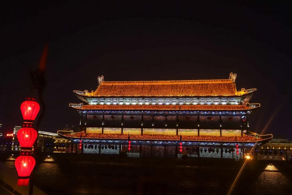 Wachhaus auf der Stadtmauer von Xi'an