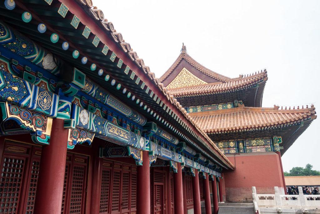 Chinesischer Baustil aus dem wie man es kennt in der Verbotenen Stadt