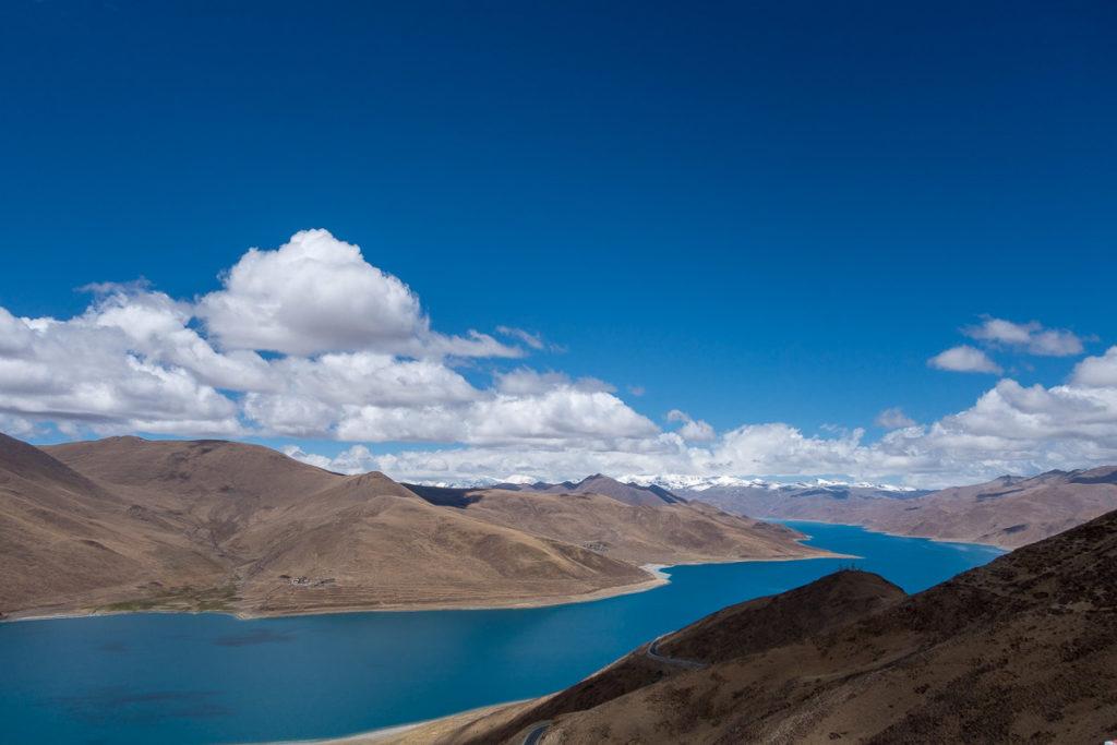 Yamdrok See vom Kamba La Pass her gesehen