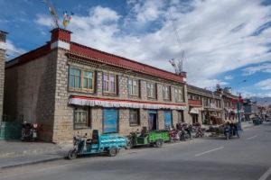 Strassenszene in Gyantse