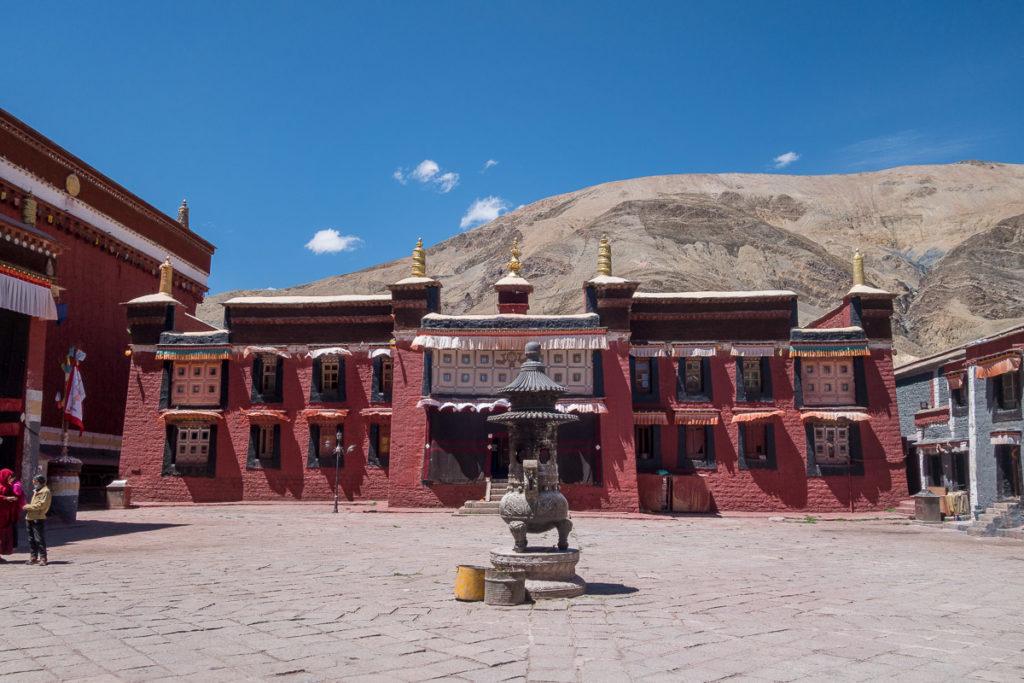 Innenhof des Klosters Sakya