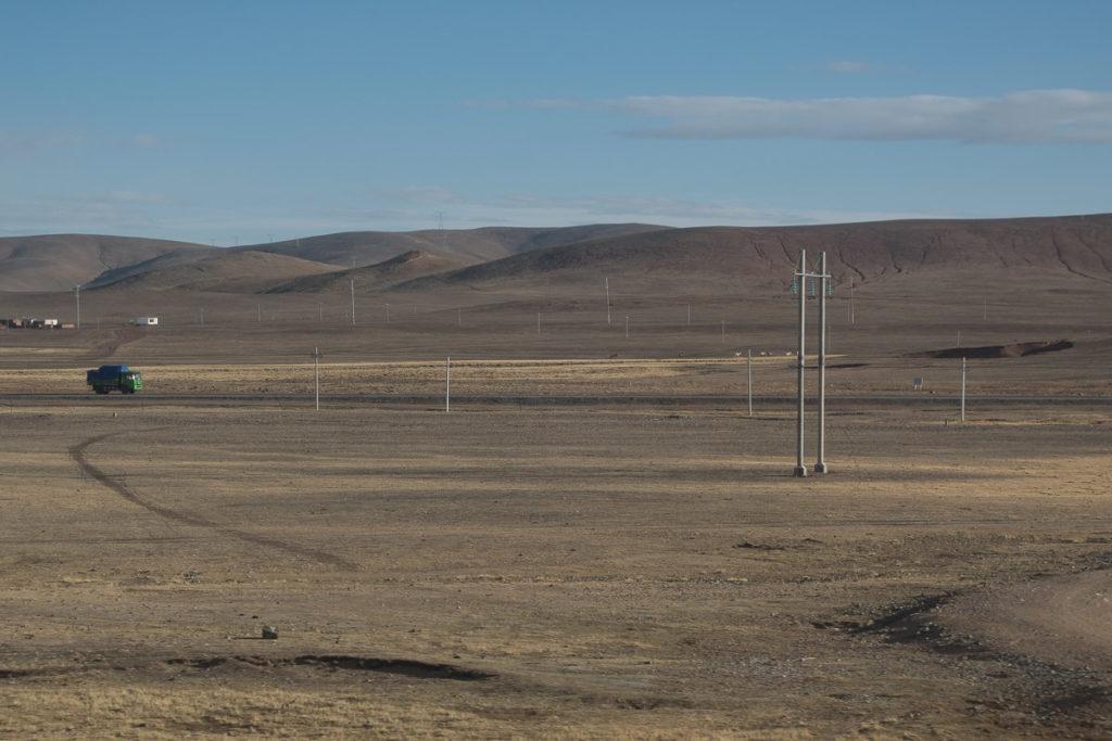 Karge Landschaft auf dem Tibet Hochplatteau