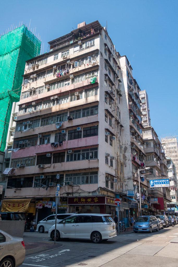 Nicht alle Gebäude in Hong Kong sind schön...