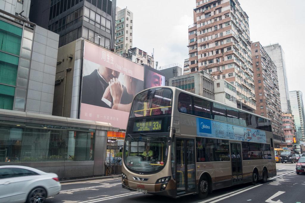 Doppeldeckerbus in Hong Kong