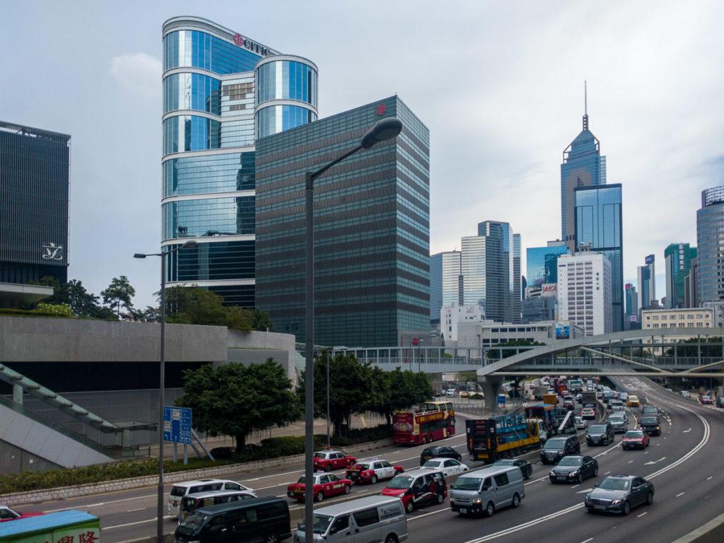 Strasse in Hong Kong