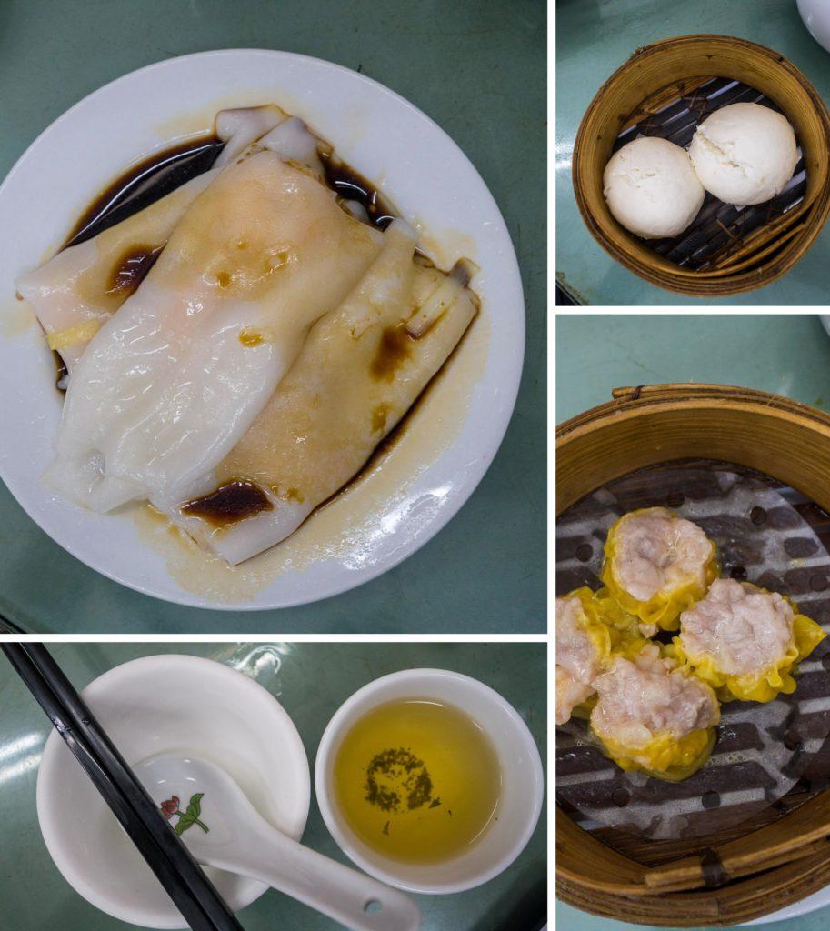 Dim Sums im Teehaus in Hong Kong