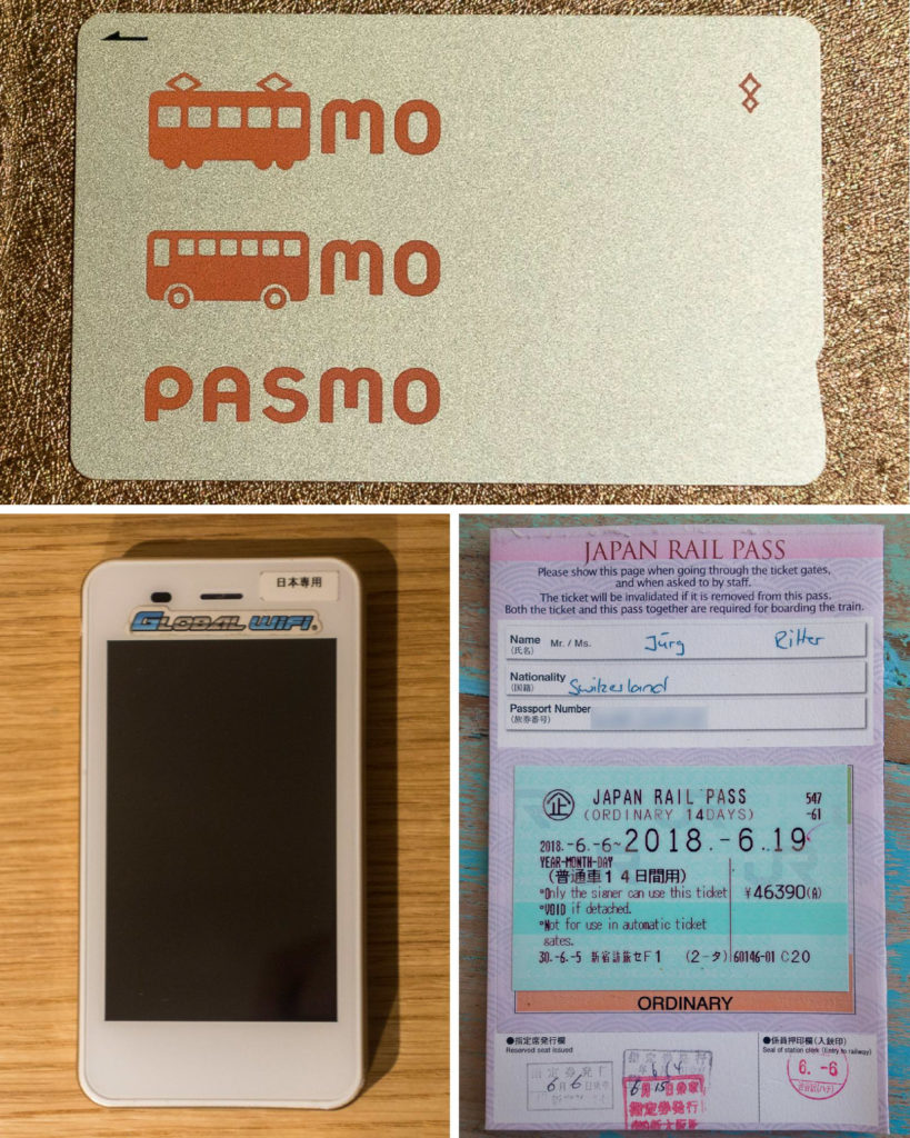 Das Japan Travel Kit - Pasmo Karte, Pocket WiFi und JR Rail Pass